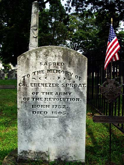Gravesite of Colonel Ebenezer Sproat